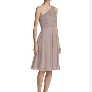 Short One Shoulder Lace David's Bridal Bridesmaid